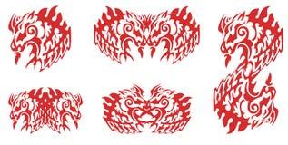 Flaming horse symbols Stock Image