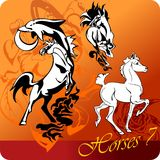 Flaming Horses. Royalty Free Stock Image