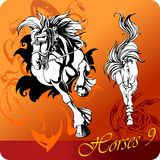 Flaming Horses. Royalty Free Stock Photos