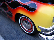 Flaming Hot Rod. Hot Rod with yellow and red flames Royalty Free Stock Photo