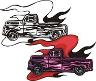 Flaming hotrods. Royalty Free Stock Photography