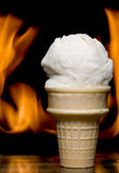 Flaming Ice Cream Stock Images