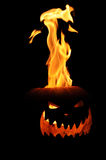 Flaming Jack O Lantern Royalty Free Stock Photo