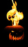 Flaming Jack O Lantern Royalty Free Stock Images