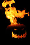 Flaming Jack O Lantern Stock Photography
