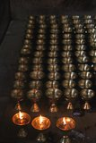 Flaming Lamps of fire faith and prayer Royalty Free Stock Images