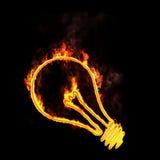 Flaming light bulb Royalty Free Stock Image