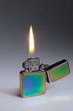 Flaming lighter Royalty Free Stock Photo