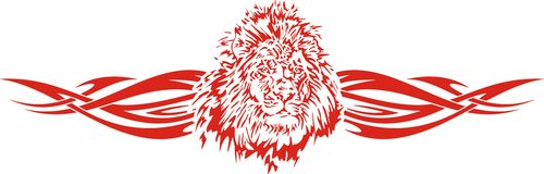 Flaming lion illustration Royalty Free Stock Photos