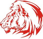 Flaming lion illustration Stock Photo