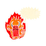 Flaming little devil cartoon Stock Photography
