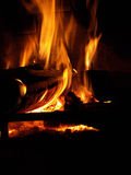 Flaming Log Stock Photography