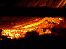 Flaming Log Royalty Free Stock Images