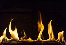 Flaming Log Royalty Free Stock Photos