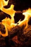 Flaming Logs Royalty Free Stock Image