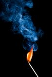 Flaming match Royalty Free Stock Image