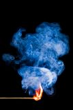 Flaming match Royalty Free Stock Photography