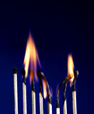 Flaming Matchstick Stock Images