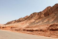 Flaming Mountains Royalty Free Stock Photos