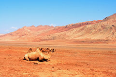 Flaming Mountains Stock Photos