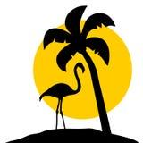 Flaming palma Zdjęcie Stock
