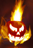 Flaming Pumpkin Stock Images