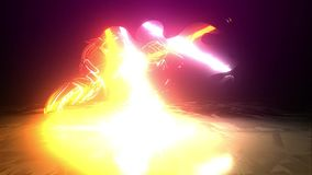 Flaming motorcycle Ride laser animation light