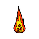 Flaming rocks cartoon Stock Photography