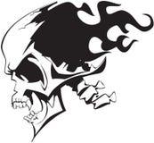 Flaming skull Stock Photography