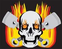 Flaming Skull stock image