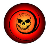 Flaming skull Stock Images