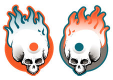 Flaming skulls Royalty Free Stock Photo