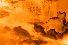 Flaming sky Stock Image