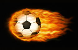 Flaming Soccer Ball Stock Images