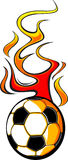 Flaming Soccer Ball v1. Illustrated Vector Soccer Ball Design with Flames Stock Photos