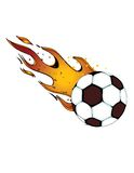 Flaming Soccerball / Football! vector eps8 Royalty Free Stock Photos