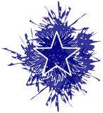 Flaming star in blue made with spots isolated vector illustration
