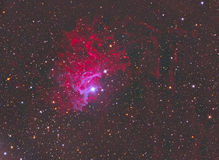 Flaming Star Nebula. Emission reflection nebula constellation Auriga royalty free stock photo