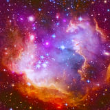 Flaming Star Nebula. Abstract illustration with a beautiful star space nebula Stock Photos
