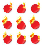 Flaming Stickers Royalty Free Stock Photography