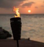 Flaming sunset Royalty Free Stock Photos