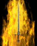 Flaming Sword Stock Image