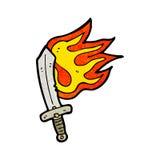 flaming sword cartoon Royalty Free Stock Photography