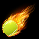 Flaming tennis ball. Stock Photos