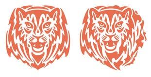 Flaming tiger head Royalty Free Stock Photos