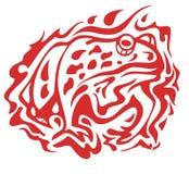 Flaming toad symbol Stock Image