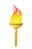 Flaming torch Stock Photos
