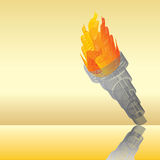 Flaming torch abstract Stock Photo