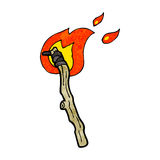 Flaming torch cartoon Royalty Free Stock Image