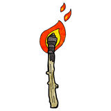 Flaming torch cartoon Stock Photo